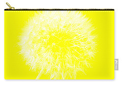 Carry-all Pouch featuring the digital art Dandylion Yellow by Clayton Bruster
