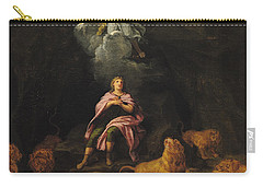 Daniel In The Den Of Lions Oil On Canvas Carry-all Pouch