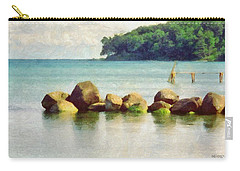 Danish Coast On The Rocks Carry-all Pouch