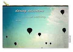 Carry-all Pouch featuring the photograph Daring Adventure Hot Air Balloons by Eleanor Abramson