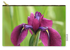 Dark Magenta Iris Carry-all Pouch by E Faithe Lester
