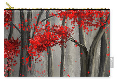 Dark Passion- Red And Gray Art Carry-all Pouch