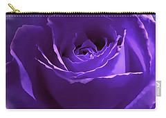 Dark Secrets Purple Rose Carry-all Pouch by Jennie Marie Schell