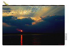 Carry-all Pouch featuring the photograph Cloudy Sunset by James C Thomas