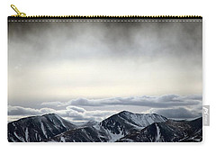 Carry-all Pouch featuring the photograph Dark Storm Cloud Mist  by Barbara Chichester
