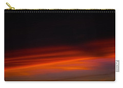 Carry-all Pouch featuring the photograph Dark Sunset Over A Mountain Peak by Lehua Pekelo-Stearns