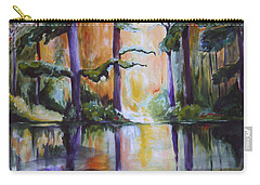 Carry-all Pouch featuring the painting Dark Woods by Nadine Dennis