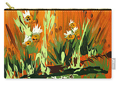 Carry-all Pouch featuring the painting Darlinettas by Holly Carmichael