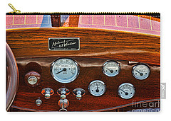 Dashboard In A Classic Wooden Boat Carry-all Pouch