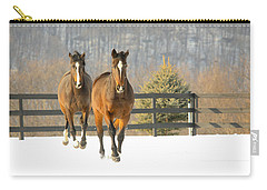 Carry-all Pouch featuring the photograph Dashing Through The Snow by Carol Lynn Coronios
