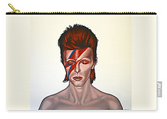 David Bowie Aladdin Sane Carry-all Pouch by Paul Meijering