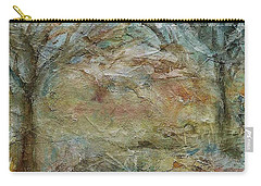 Carry-all Pouch featuring the painting Dawn 2 by Mary Wolf