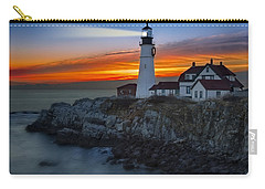 Dawn At Portalnd Head Light Carry-all Pouch