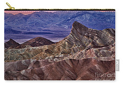Carry-all Pouch featuring the photograph Dawn At Zabriskie Point by Jerry Fornarotto
