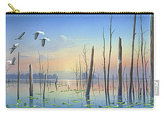 Carry-all Pouch featuring the painting Dawns Early Light by Mike Brown