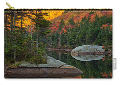 Carry-all Pouch featuring the photograph Dawns Foliage Reflection by Jeff Folger