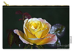 Carry-all Pouch featuring the photograph Day Breaker Rose by Kate Brown