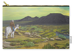 Carry-all Pouch featuring the painting Day Is Done by Sheri Keith