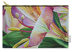 Carry-all Pouch featuring the painting Day Lilies by Jane Girardot