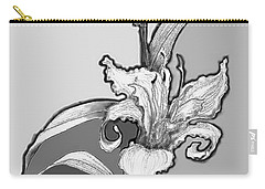 Carry-all Pouch featuring the digital art Day Lillies by Carol Jacobs