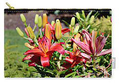 Day Lillies In The Garden Carry-all Pouch