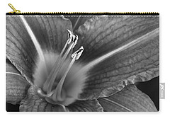Day Lily In Black And White Carry-all Pouch