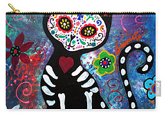 Day Of The Dead Cat Carry-all Pouch