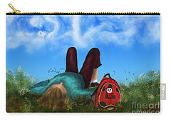 Carry-all Pouch featuring the digital art Daydreaming by Rosa Cobos