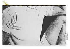 Carry-all Pouch featuring the drawing Daydreaming by Sophia Schmierer