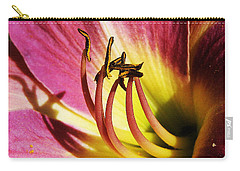 Daylilly Dusted With Pollen Carry-all Pouch by Jennifer Muller