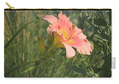 Carry-all Pouch featuring the photograph Daylily In The Sun by Jayne Wilson