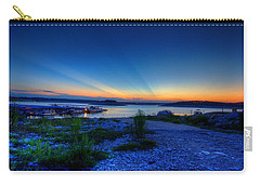 Carry-all Pouch featuring the photograph Days End by Dave Files