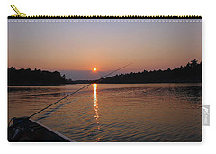 Carry-all Pouch featuring the photograph Sunset Fishing by Debbie Oppermann