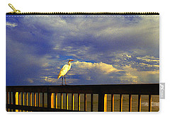 Daytona Beach Fl Bird Sun Glow Pier  Carry-all Pouch