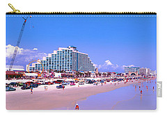Carry-all Pouch featuring the photograph Daytona Main Street Pier And Beach  by Tom Jelen