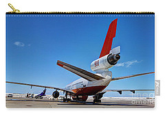 Carry-all Pouch featuring the photograph Dc-10 Air Tanker  by Bill Gabbert