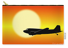 Dc-3 Passing Sun Carry-all Pouch