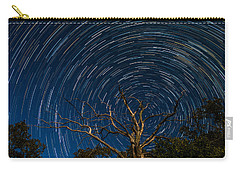 Dead Oak With Star Trails Carry-all Pouch by Paul Freidlund