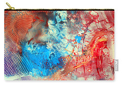 Carry-all Pouch featuring the painting Decalcomaniac Colorfield Abstraction Without Number by Otto Rapp