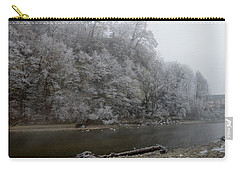 Carry-all Pouch featuring the photograph December Morning On The River by Felicia Tica