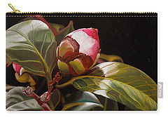 December Rose Carry-all Pouch by Thu Nguyen