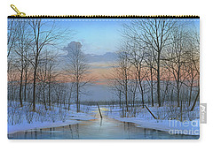 Carry-all Pouch featuring the painting December Solitude by Mike Brown