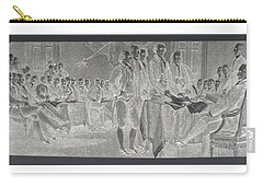 Declaration Of Independence In Negative Carry-all Pouch