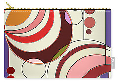 Carry-all Pouch featuring the digital art Deco Circles by Mary Bedy