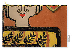 Deco Queen Of Hearts Carry-all Pouch by Carol Jacobs