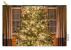 Carry-all Pouch featuring the photograph Decorated Christmas Tree by Alex Grichenko