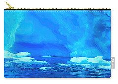 Carry-all Pouch featuring the photograph Deep Blue Iceberg by Amanda Stadther