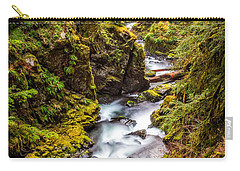 Carry-all Pouch featuring the photograph Deep In The Forest by Ken Stanback