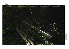 Carry-all Pouch featuring the photograph Deep In The Woods by Andy Prendy