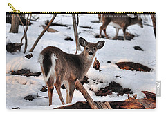 Deer And Snow Carry-all Pouch